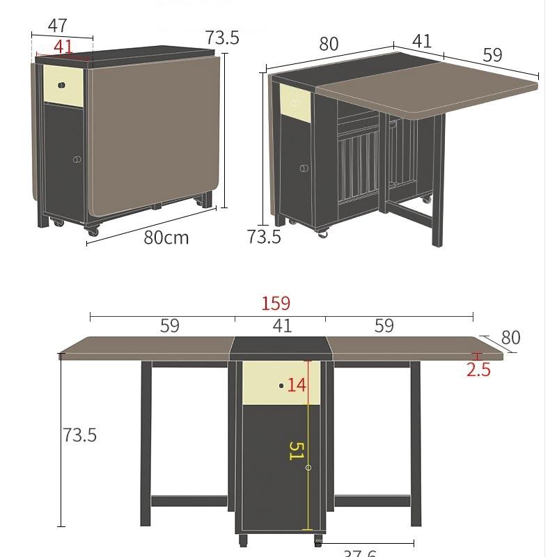 Kích thước bàn ăn gấp gọn